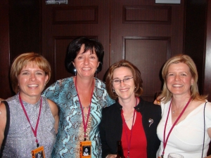 Karen Rosenitsch, Mary Beth Mathe, Joan Cooney, Kathy Rosenitsch