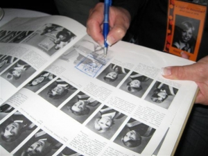Signing a '78 yearbook